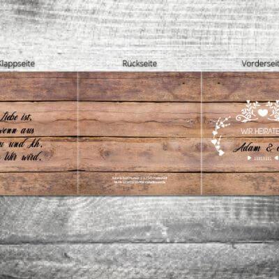Hochzeit Vintageholz | 6-Seitig