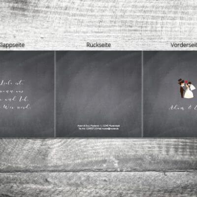 Hochzeit Hochzeitspaar | 6-Seitig