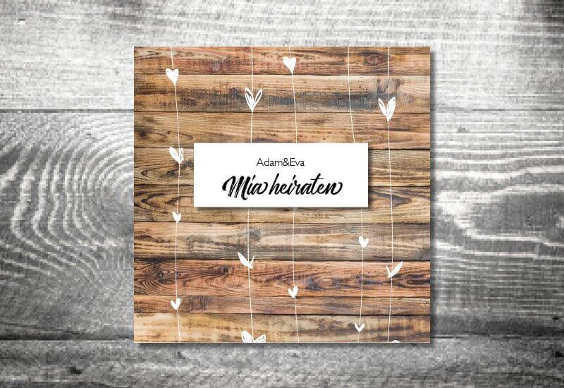 kartlerei karten drucken hochzeit einladung herzchenholz - Heimatgefühl