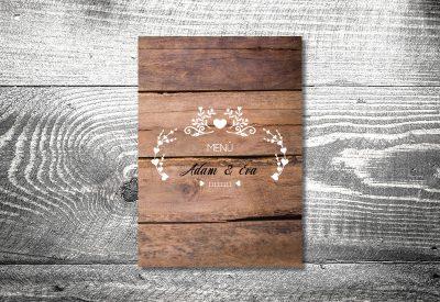 kartlerei karten drucken hochzeit heiraten menue menuekarte anker vintageholz 400x275 - Bierdeckel drucken als Menükarte Hochzeit