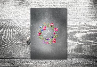 kartlerei karten drucken hochzeit heiraten menue menuekarte bluemchen 400x275 - Bierdeckel drucken als Menükarte Hochzeit
