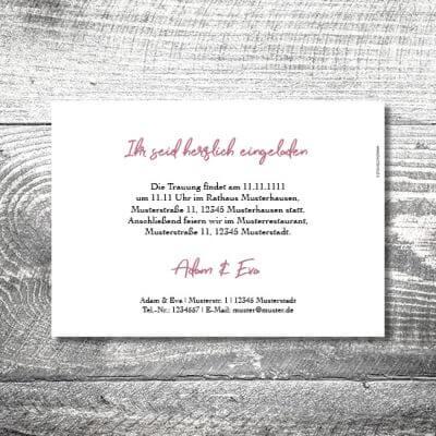 Hochzeit Floralhirsch | 2-Seitig
