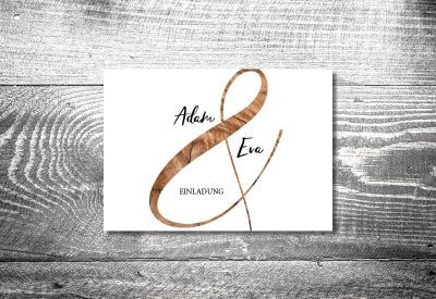 kartlerei karten drucken hochzeitseinladung heiraten einladung wood 400x275 - Timeline Hochzeit
