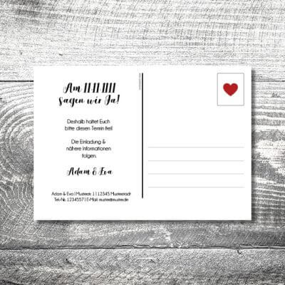 Save the Date Fotolove Postkarte | 2-Seitig | ab 0,70 €