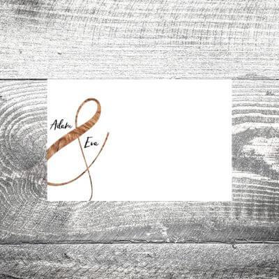 Tischkarte Wood