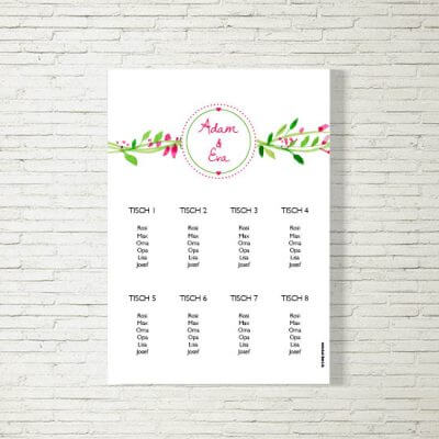 Hochzeit Set Blumenkranz Hochzeitskarten Drucken Www Kartlerei De