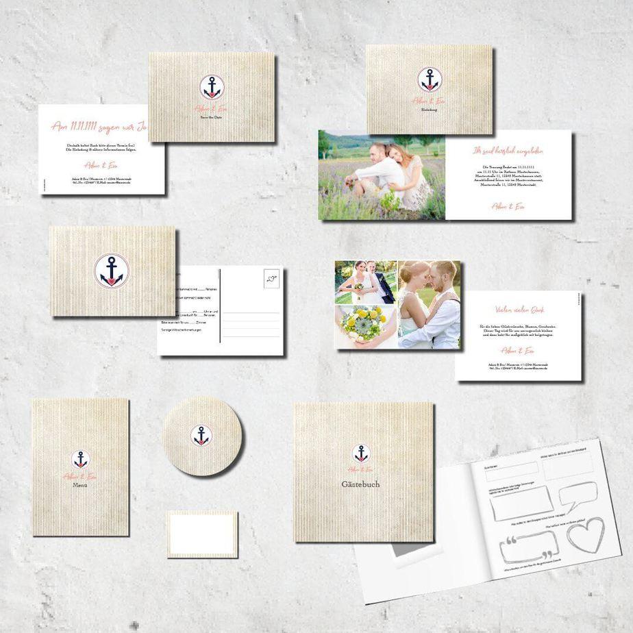 hochzeits set kartlerei karten drucken bierdeckel menuekarten gaestebuch dankeskarten hochzeit 20186 - Hochzeitskarten Set – Alles muss perfekt sein!