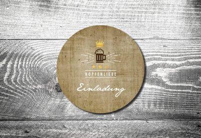 kartlerei bierdeckel drucken bayern bayrisch geburtstagseinladung hopfenliebe 400x275 - Geburtstagseinladung auf Bayrisch