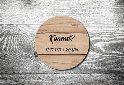 kartlerei bierdeckel drucken bayern bayrisch geburtstagseinladung kimmst holz 400x275 - Einladungskarten Geburtstag Text