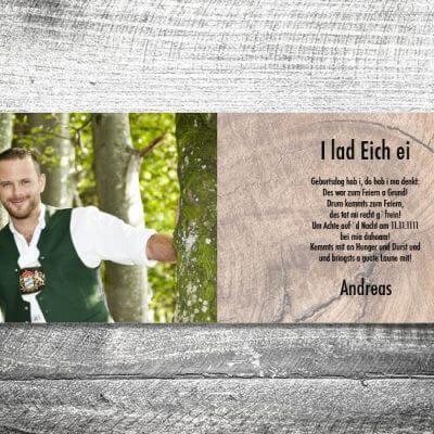 kartlerei karten drucken bayern geburtstagseinladungskarten bayrisch geweih innen 400x400 - Geweih | 4-Seitig | ab 1,00 €