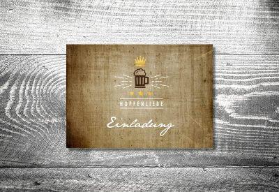 kartlerei karten drucken bayern geburtstagseinladungskarten bayrisch hopfenliebe 400x275 - Geburtstagseinladung auf Bayrisch