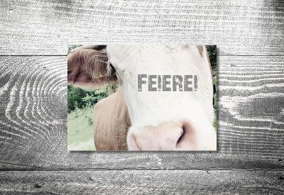 kartlerei karten drucken bayern geburtstagseinladungskarten bayrisch kuh 400x275 - Geburtstagseinladung auf Bayrisch
