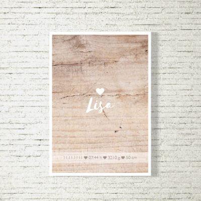 Poster/Bild Baby | Holzherz