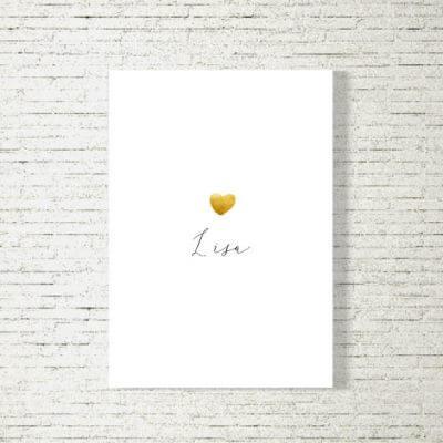 Poster/Bild Baby | Goldenes Herz
