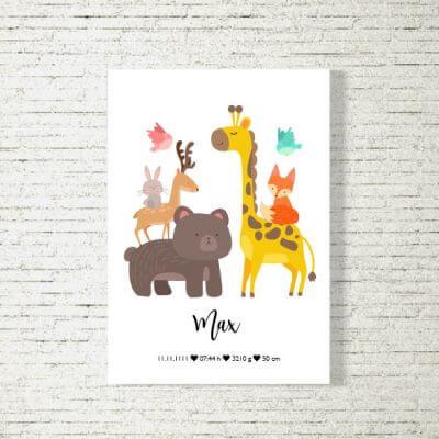 Poster/Bild Baby | Tierfamilie