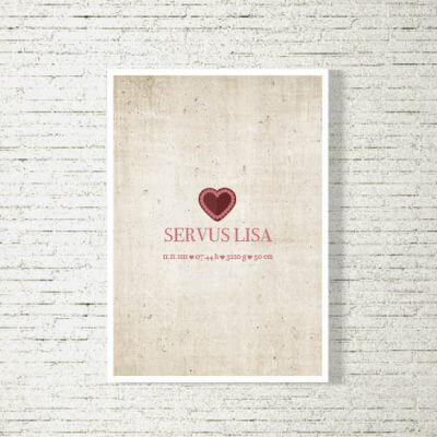 Poster/Bild Baby | Servus Madl