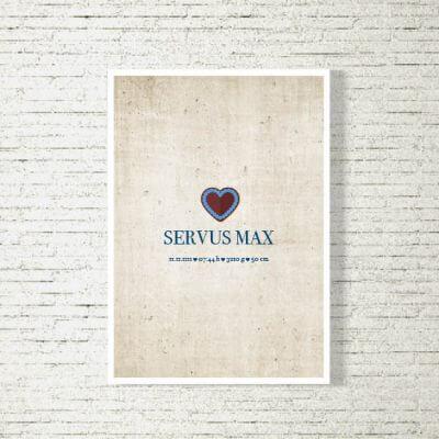 Poster/Bild Baby | Servus Bua