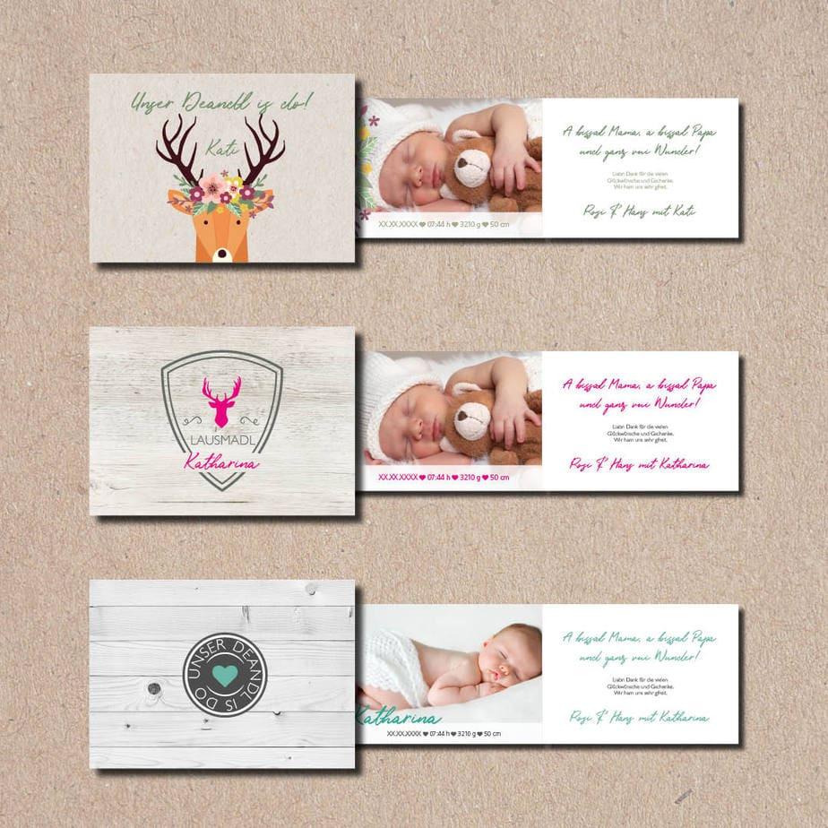 kartlerei bayrische geburtskarten baby kind karten drucken gestalten 3.jpg - Bayrische Geburtskarten