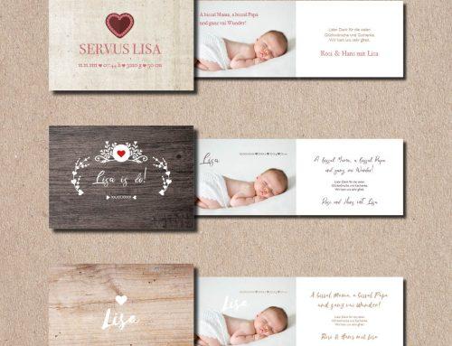 Geburtskarten auf Bayrisch