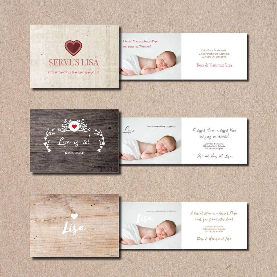 kartlerei bayrische geburtskarten baby kind karten drucken gestalten - Baby & Kind Karten