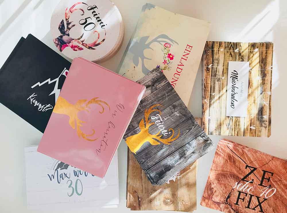kartlerei einladungskarten drucken und gestalten papiermuster - kartlerei Magazin