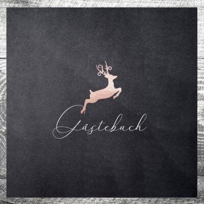 Gästebuch Hirsch Rosegold | ab 55,00 €