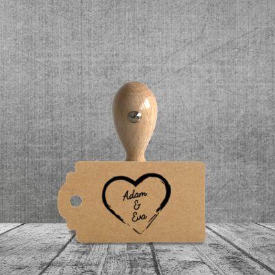 Holzstempel Herz