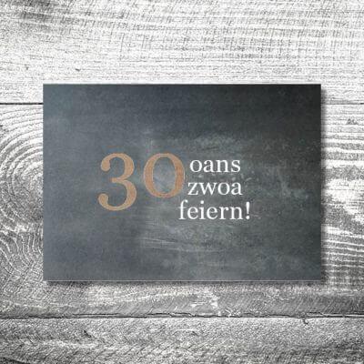 Oans Zwoa Feiern | 2-Seitig | ab 0,70 €