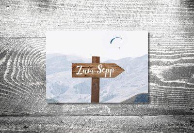kartlerei karten drucken bayern geburtstagseinladungskarten bayrisch heimatgefuehl wegweiser 400x275 - Einladungskarten Geburtstag Text