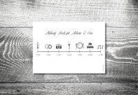kartlerei karten drucken einladungskarten hochzeit einlegeblatt timeline zeitplan - Timeline Hochzeit