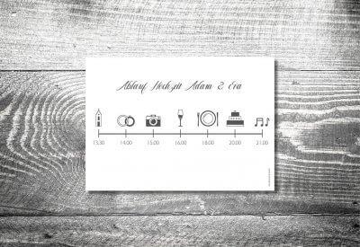 kartlerei karten drucken einladungskarten hochzeit einlegeblatt timeline zeitplan 400x275 - kartlerei Magazin