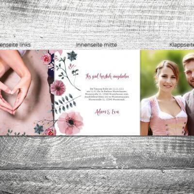 Hochzeit Blumenholz | 6-Seitig