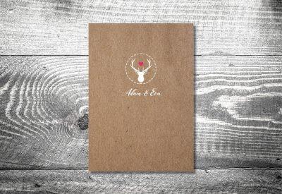 kartlerei karten drucken hochzeit heiraten menue menuekarte hirschherz 1 400x275 - Bierdeckel drucken als Menükarte Hochzeit
