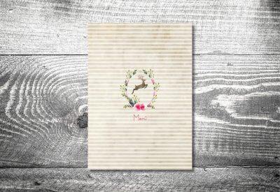 kartlerei karten drucken hochzeit heiraten menue menuekarte hirschkranz 1 400x275 - Bierdeckel drucken als Menükarte Hochzeit