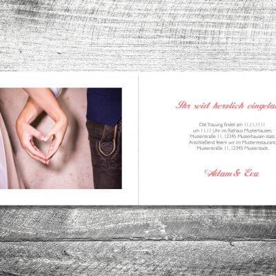 Hochzeit Banderole Hirsch | 4-Seitig | ab 1,00 €