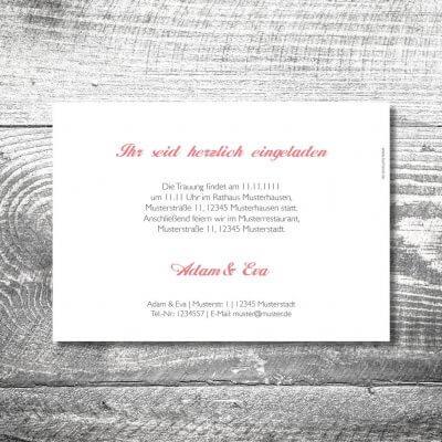 Hochzeit Banderole Hirsch | 2-Seitig