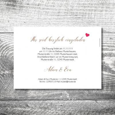 Hochzeit Herzhirsch | 2-Seitig