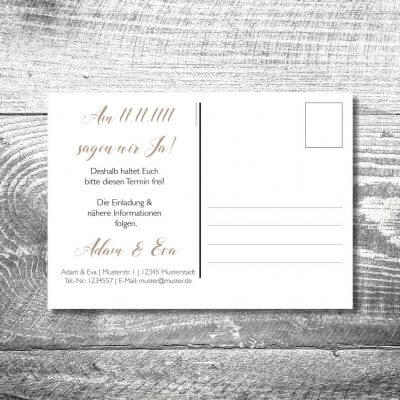 Save the Date Herzhirsch Postkarte | 2-Seitig | ab 0,70 €