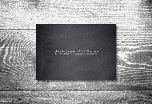 Hochzeit Hirsch Rosegold   4-Seitig