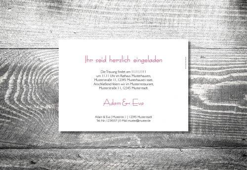 Hochzeit Hirschkranz | 2-Seitig