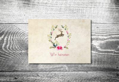 kartlerei karten drucken hochzeitseinladung heiraten bayrisch heimatgefuehl hirschkranz einladung 400x275 - Timeline Hochzeit