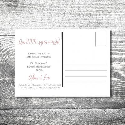 Save the Date Leinenhirsch Postkarte | 2-Seitig | ab 0,70 €