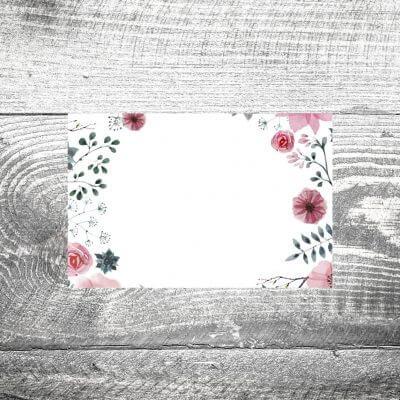 Tischkarte Blumenholz