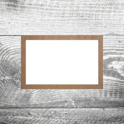 Tischkarte Kraftpapier