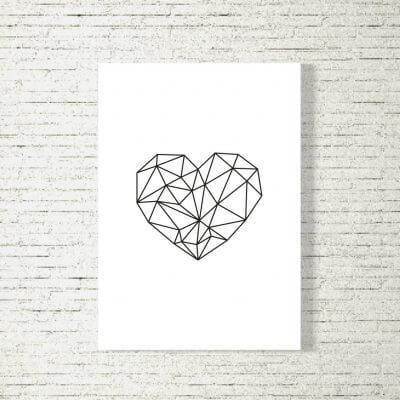 Poster/Bild Herz Polygon