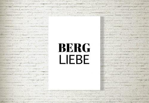 Poster/Bild Bergliebe Typo