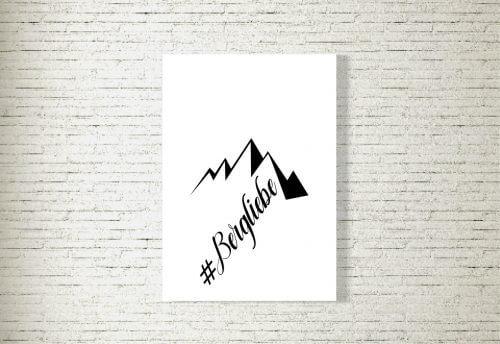 Poster/Bild Hashtag Bergliebe