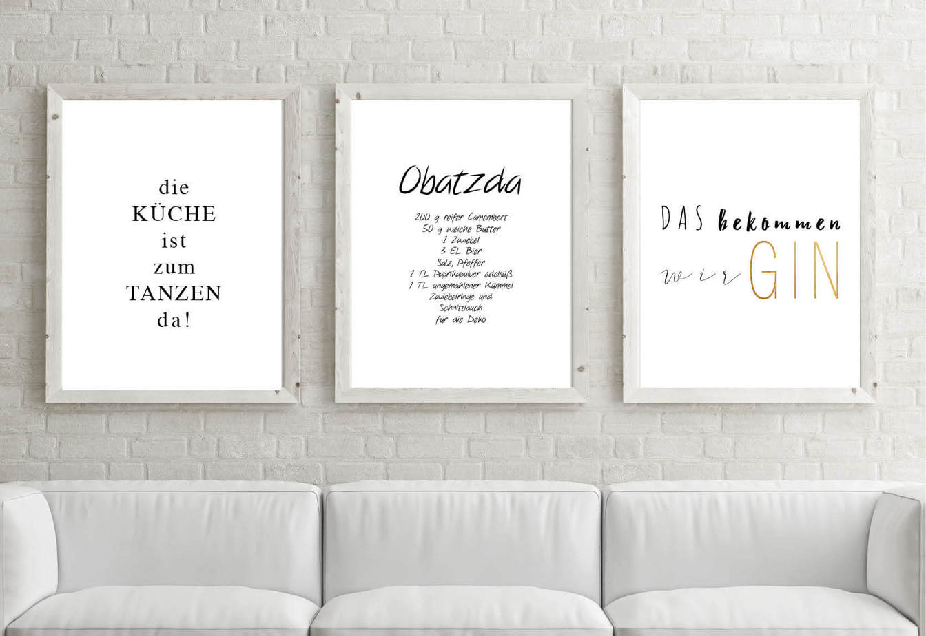 Poster-Set Küche | kartlerei