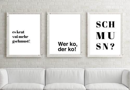 Poster-Set Schmusn, Wer ko, der ko!