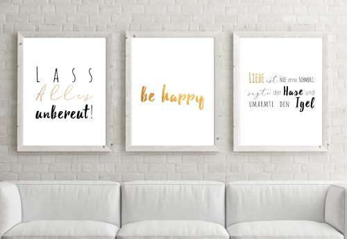 Poster-Set Be Happy